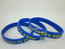 Diabetes Awareness Hope is in a cure Silicone Wristband Bracelet