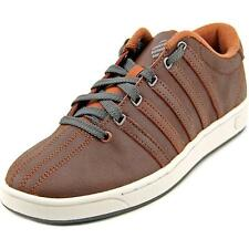 K-Swiss Court Pro II C CMF Men  Round Toe Leather Red Sneakers