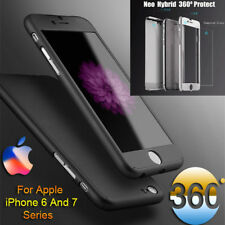 360° Full Body Hybrid Hard Case Cover + Tempered Glass For iPhone 6 6s 7|7 Plus