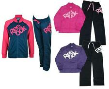 New Reebok Tricot Girls Full Tracksuit  Age 5-16 Pink Purple Black  top bottoms