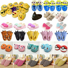 Cartoon Pokemon Emoji Plush Stuffed Slippers Soft Warm Cotton Shoes Home Slipper