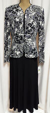 NWT Jessica Howard Event Mother of the Bride Foil Print Jacket Dress Retail $99