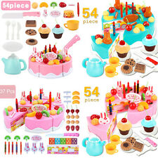 Pretend Role Play Toy Cake Food Cutting Set Kids DIY Early Educational Toy Gift