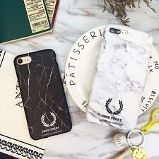 For Apple iPhone New Style Marble Pattern Design Black White Protective Case