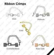 [HS] Jewelry Findings - Cord Closures - Ribbon Crimps 13 mm