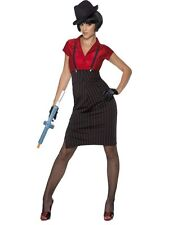 Adult Ladies 1920s Sexy Gangster 20s Moll Fancy Dress Costume Party Outfit