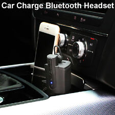 New Wireless Mini Car Charger Earphone Bluetooth Stereo Headset For Samsung LG