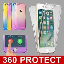 Ultra Slim Silicone Tpu Clear 360° Front + Back Cover Case For iPhone 7 Plus 6s