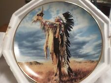 FRANKLIN MINT PRAYER TO THE GREAT SPIRIT INDIAN COLLECTOR PLATE W/COA 24KT GOLD