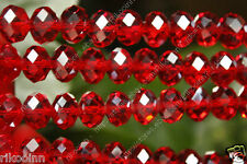 Wholesale 5 - 16mm Faceted Red Swarovski Crystal Gem Loose Beads
