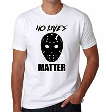 Funny jason voorhees friday the 13th no lives matter men's halloween t-shirt