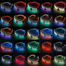 Glow LED Glasses Light Up Shades Flashing Rave Festival Party Glasses JK