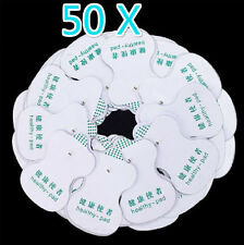 50x Electrode Pads for Tens Acupuncture Digital Therapy Machine Body Massager 0h