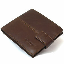 Mens Leather Wallets Clutch Purse Coin Pocket Photo ID Holders Credit Card Slots