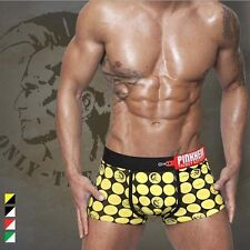 Fashion Mens Cotton Cool Cartoon Underwear Stretch Brief Boxers Shorts M-2XL