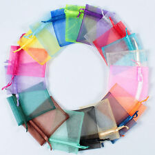3''x4'' Organza Drawstring Gift Bags Jewellery Pouch Wedding Party Favour Bags