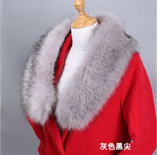 Winter ladies faux fox fur collar scarf fluffy warm women shawl wrap stole good