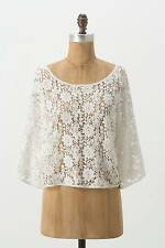 NEW Anthropologie Maple Cropped Needlepoint Pullover Top Size M