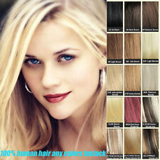 7pcs Set Clip In Remy Human Hair Extensions 100% Real Hair Top 18'' Full Head