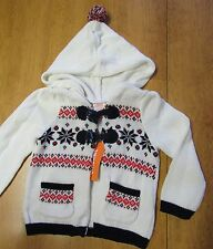 NWT Gymboree IVORY FAIR ISLE NORDIC HOODED SWEATER 12-18 mo OR 18-24 mo OR 4T