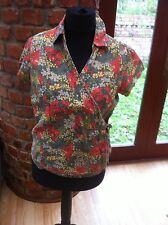 Fat Face Floral Wrap Around Blouse Size 14