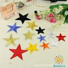 10pcs/set Star Pattern Clothing Accessories Embroidered patches Iron/Sew On