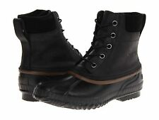NEW SOREL CHEYANNE LACE FULL GRAIN LEATHER WATERPROOF INSULATED MENS BOOT BLACK