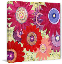 """Marmont Hill """"Summer Crush"""" by Sascalia Painting Print on Wrapped Canvas"""
