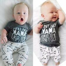 Toddler Kids Baby Boys t-Shirt +Pants Leggings 2Pcs Outfit Set Clothes 0-24 Mths
