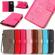 Card Holder Leather Flip Wallet Case Cover Stand Floral For NOKIA HTC Motorola