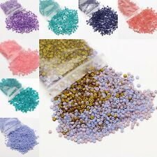 500Pcs Czech Glass Seed Spacer DIY Beads Jewelry Making Finding Crafts 4mm