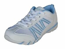 New Toddler Girls Tennis Shoes White Light Blue Sneakers Athletic Kids Youth