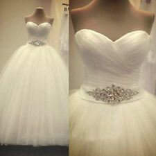 New White/Ivory  Wedding Dress Bridal Gown Ball Stock Size 6 8 10 12 14 16 18
