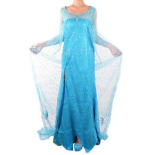 Adult Frozen Princess Elsa Costume Snow Queen Cosplay Party Fancy Dress Outfits
