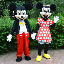 Hot Mickey And Minnie Mouse Adult Mascot Costume Party Fancy Dress Free Shipping