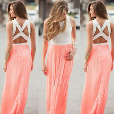 Maxi Boho Cocktail New Dress Women Long Beach Sexy Sundress Evening Party Summer