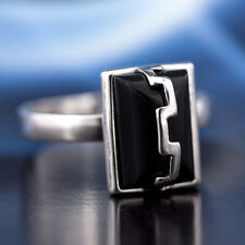 Onyx Silver 925 Ring different sizes P123