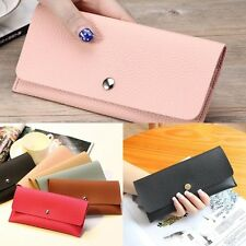 Womens Lady Clutch Long Purse Faux Leather Wallet Card Holder Handbag Phone Bag