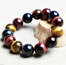 100% Natural Gemstone Tigers Eye Stone Beads Woman Man Jewelry Bangle Bracelet