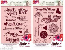 Crafters Companion LOVE & ROMANCE COLLECTION - Clear Stamp Sets A6