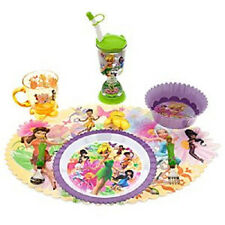 Disney Store Tinker Bell Fairies Plate Tumbler Water Bottle Spoon Fork Mealtime