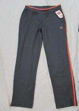 WILSON womens Med Lrg coal gray coral tracksuit jogging bottoms pants athletic