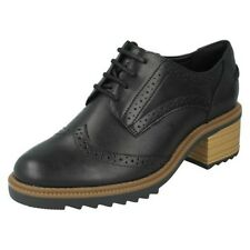 Ladies Clarks Leather Smart Brogue Trouser Shoes Label - Balmer Bella