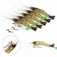 Fishing Simulation Noctilucent Prawn Saltwater Lure Hooks Top Perfect Bait
