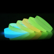 Colorful Luminous Silicone Rubber Wristband Bracelet Glow In Dark Bangle Gift