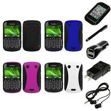 For BlackBerry Bold Touch 9900 9330 Hybrid Rugged Impact Hard Case Headphones
