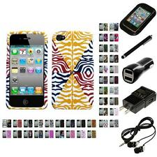 For Apple iPhone 4/4S Design Snap-On Hard Case Phone Cover Headphones