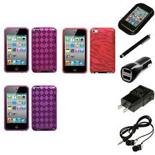 For Apple iPod Touch 4th Gen TPU Rubber Skin Flexible Case Cover Headphones