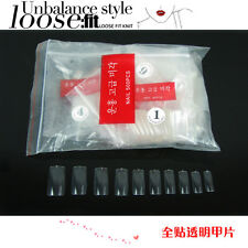 Lot 500Ps Transparent Pure False Nails for Uv Gel Acrylic Full South Korea Style