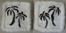 Handmade In Peru One Pair Of Baby Alpaca Fur Palm Tree Pillow Case Cover #32630